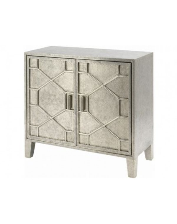 Libra Astor Hand Embossed Metal 2 Door Cabinet